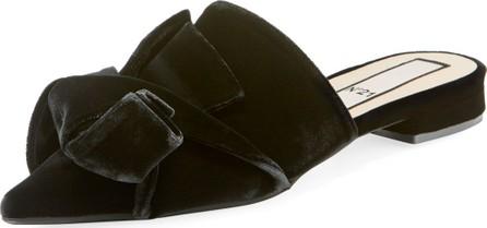 Nº21 Velvet Pointed-Toe Flat Mules