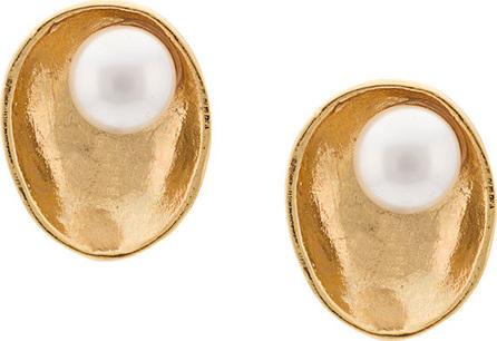 Oscar De La Renta Pearl Shell earrings