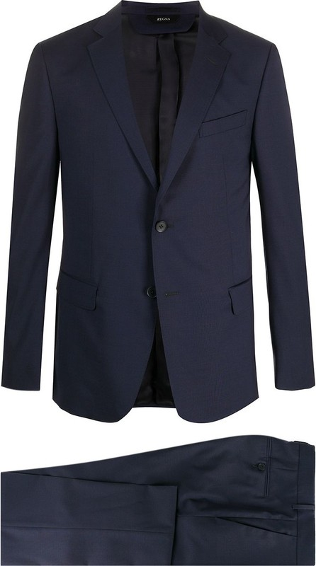 Z Zegna Logo patch slim fit suit