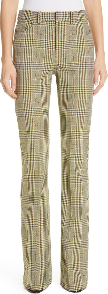 ADEAM Plaid Bootcut Pants