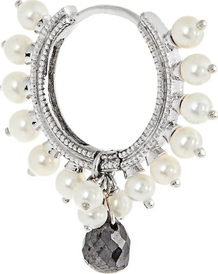 Maria Tash Diamond, pearl & white-gold earring