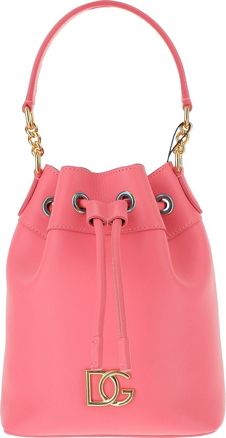 Dolce & Gabbana Coral Pink Leather Bucket Bag