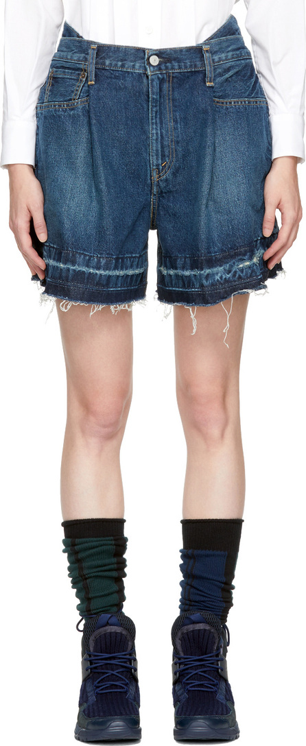 Sacai Blue Levi's Edition Limited Edition Denim Shorts