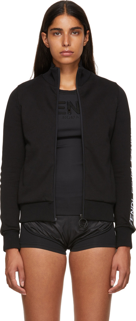 Fendi Black Logo Band Track Jacket