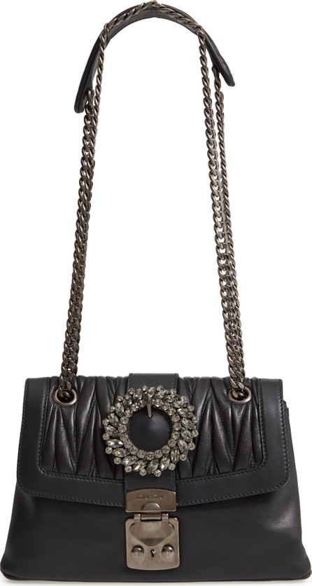 Miu Miu Fendi Grace Matelassé Leather Shoulder Bag