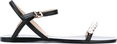 Anna Baiguera pearled trim sandals