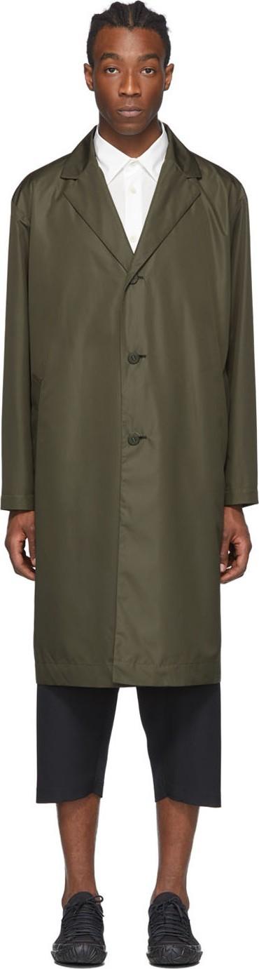 Issey Miyake Men Khaki Pleated Coat