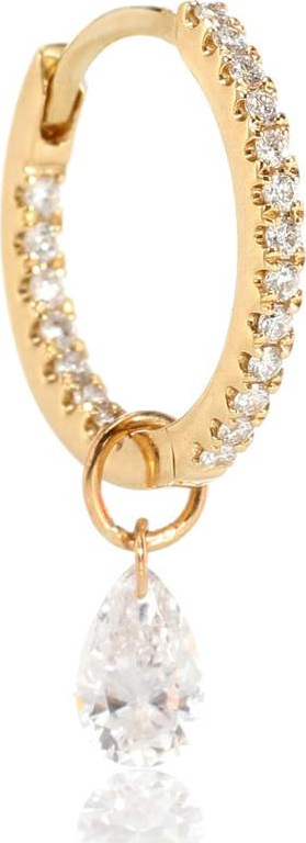 Maria Tash 18kt gold single earring with diamonds