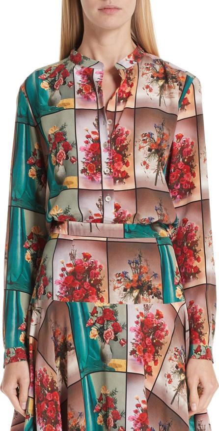 Stella McCartney Vase Print Silk Blouse