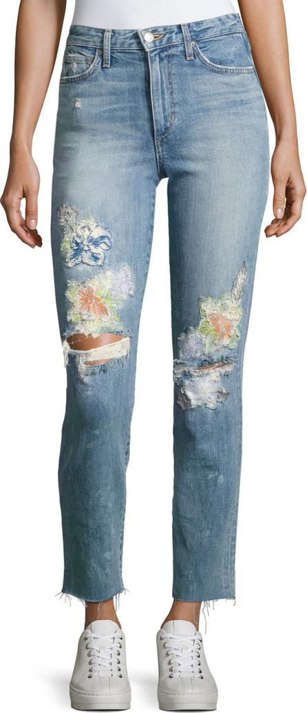 Joe's Jeans Debbie Crop Distressed Straight-Leg Jeans, Indigo