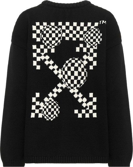 Off White Intarsia cotton-blend sweater
