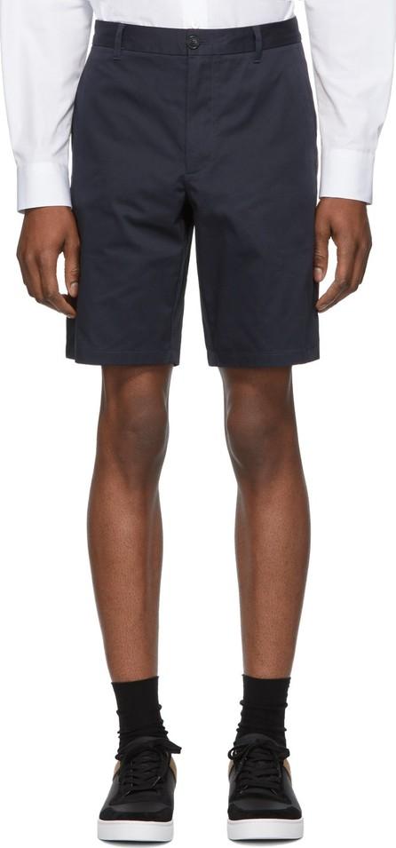 Burberry London England Navy Icon Stripe Shibden Shorts