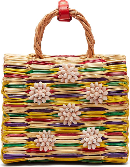 Heimat Atlantica Chito seashell-embellished basket bag