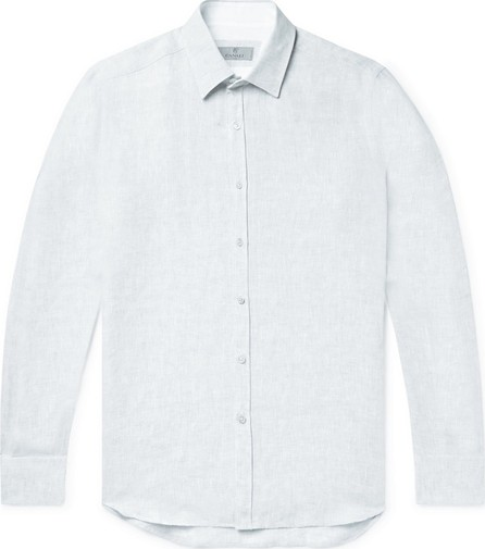 Canali Slim-Fit Slub Linen Shirt