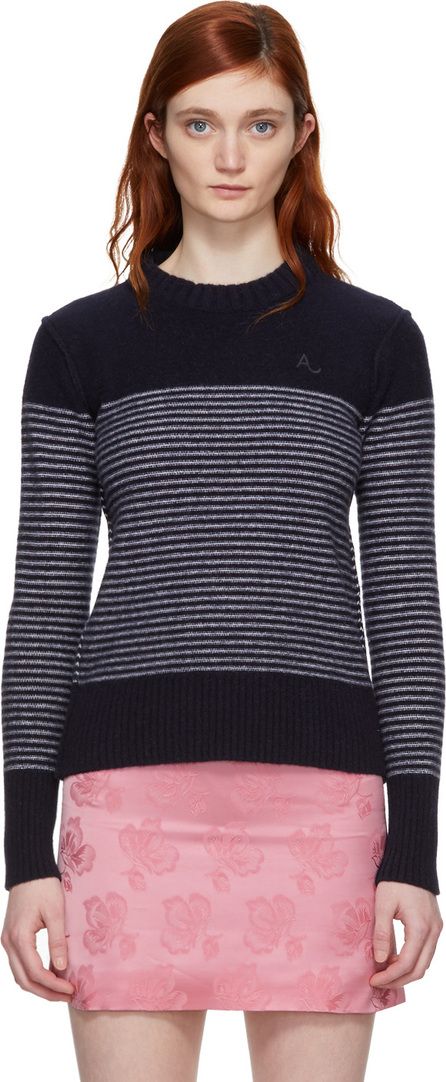Alexachung Navy & White Reverse Stripe Sweater