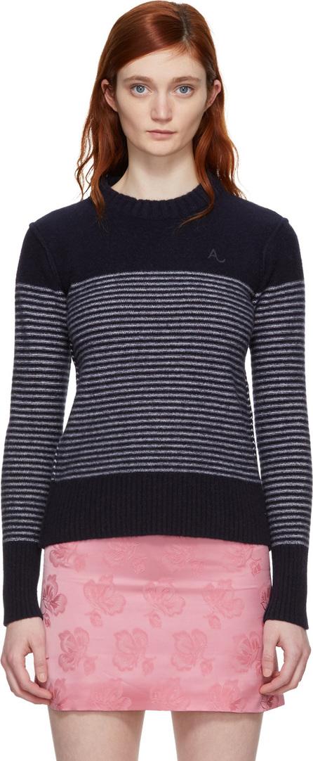 Alexachung Navy & White Reverse Stripe Sweater