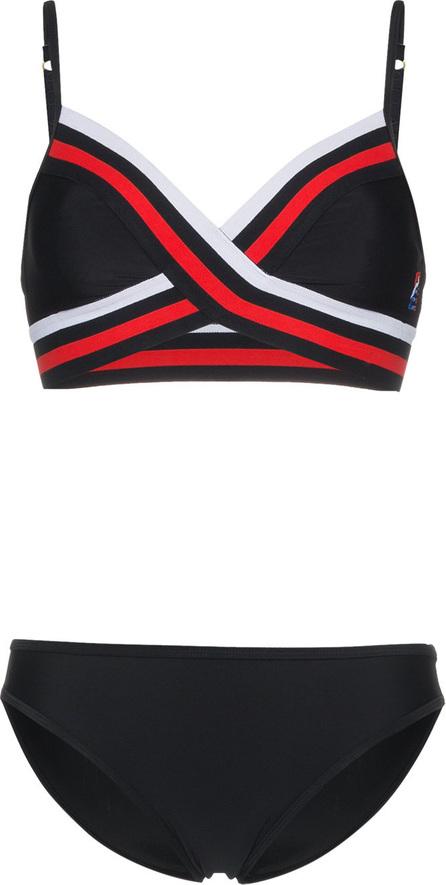 P.E Nation Crossover striped bikini