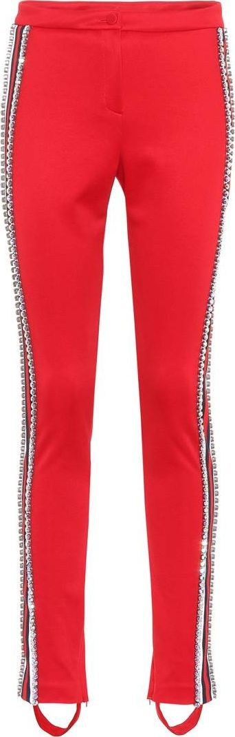 Gucci Embellished jersey stirrup trousers