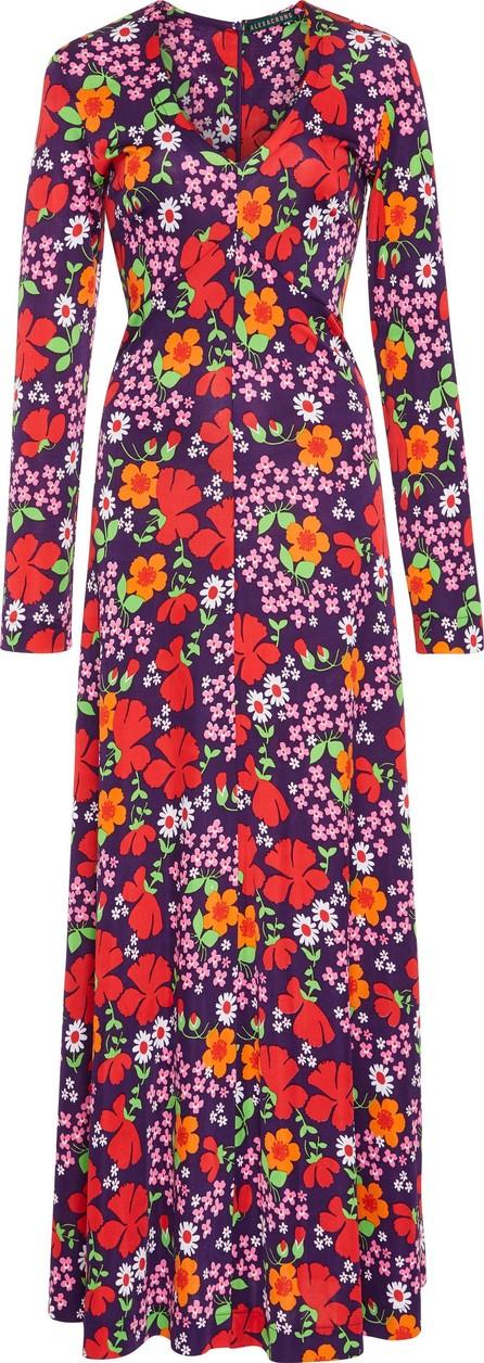 Alexachung Floral-Print Crepe Maxi Dress