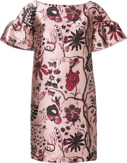Alberta Ferretti floral embroidered dress