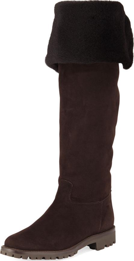 Gravati Fold-Down Fur Tall Boots