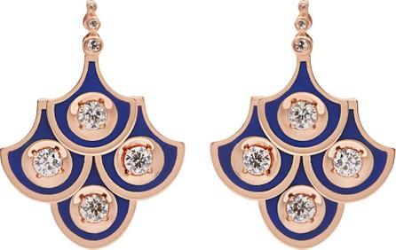 Selim Mouzannar Fish for Love diamond & 18kt rose gold earrings