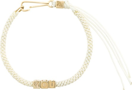 Abril Barret 'You' bead and cord bracelet