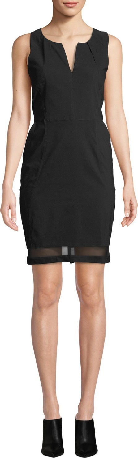 Anatomie Michelle Slim-Fit Sleeveless Dress w/ Mesh Inserts
