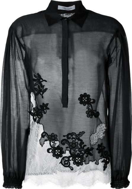 Blumarine lace panel blouse