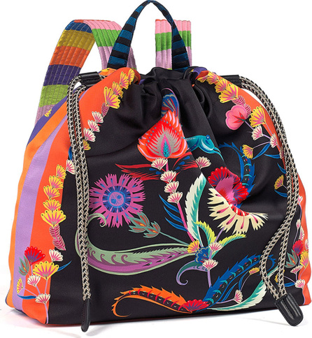 Etro Multicolor Printed Drawstring Backpack