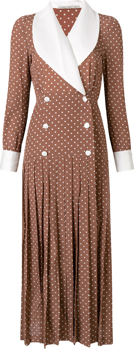Alessandra Rich Double breasted pleated dress