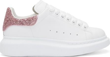 Alexander McQueen White & Pink Sequin Oversized Sneakers