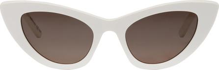 Saint Laurent White SL 213 Lily Cat-Eye Sunglasses