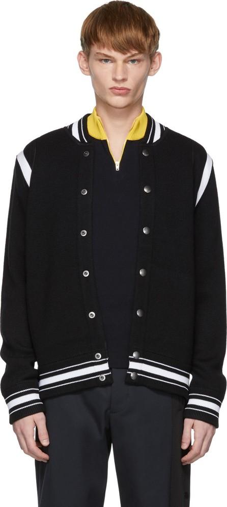 Givenchy Black & White Teddy 4G Varsity Bomber Jacket