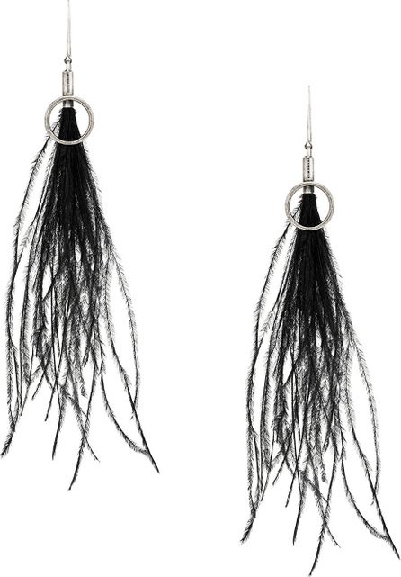 Ann Demeulemeester Feather earrings