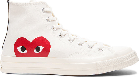 Comme Des Garcons PLAY Converse Large Emblem High Top Canvas Sneakers