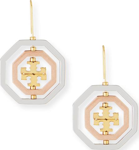 Tory Burch Logo Spinner Drop Earrings