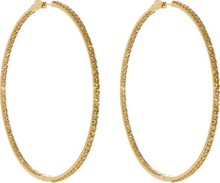 Lynn Ban 14kt gold vermeil and sapphire-pavé hoop earrings HTKbnJB