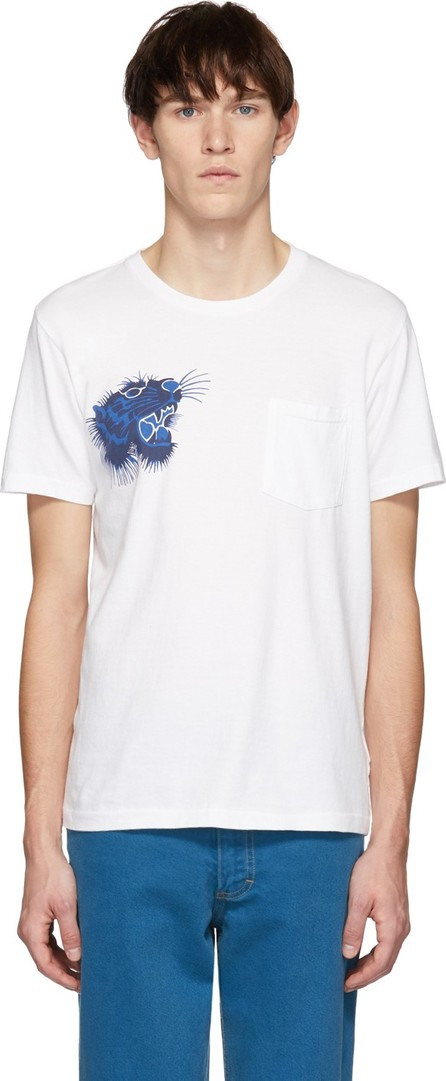 Blue Blue Japan SSENSE Exclusive White Tiger Face T-Shirt