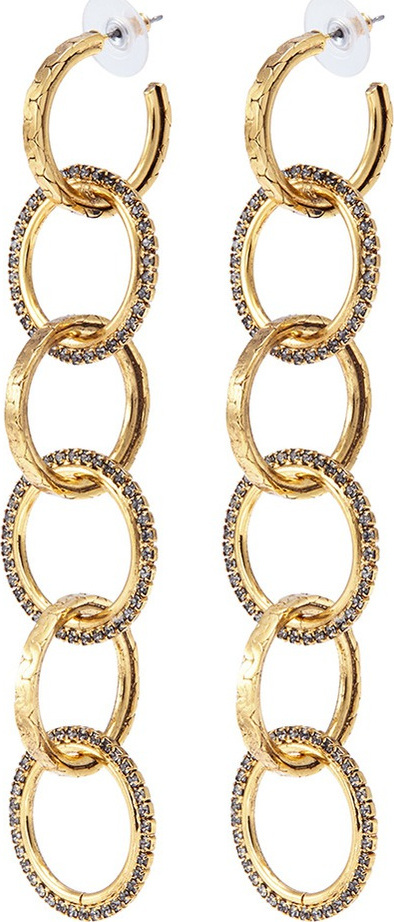 Erickson Beamon 'Breaker of Chains' Swarovski crystal interlocking hoop earrings