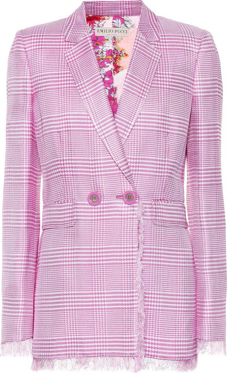 Emilio Pucci Glen plaid blazer with fringe