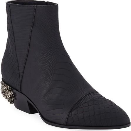 Giuseppe Zanotti Men's Dragon Embossed Leather Boots