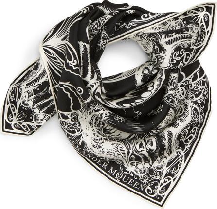 Alexander McQueen Skull Moth Silk Scarf