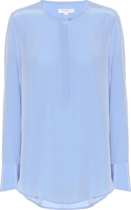 Equipment Henley silk blouse