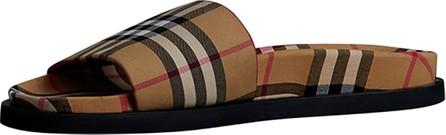 Burberry London England Men's Ashmore Check Slide Sandal