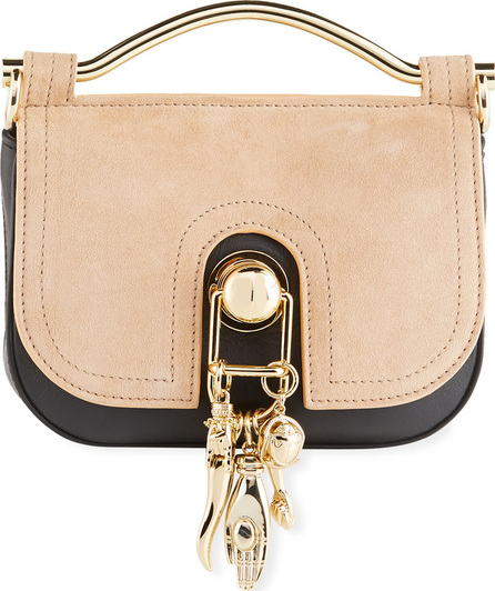 Carven Suede Charm Saddle Bag