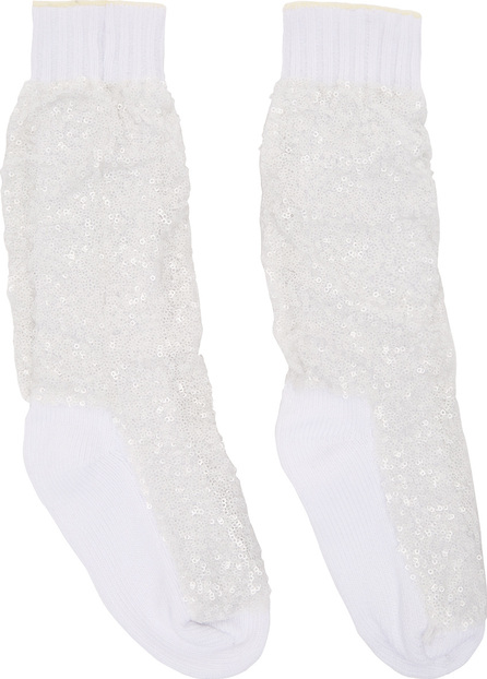Sacai White Super Spangle Socks