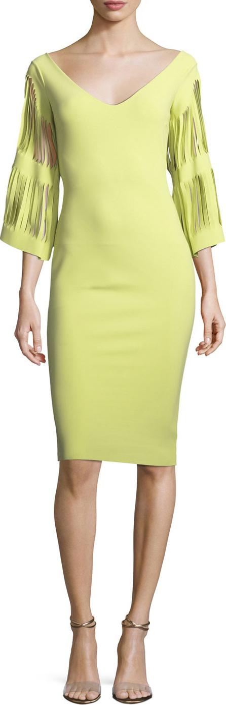 La Petite Robe di Chiara Boni Hali V-Neck Cutout-Sleeve Dress