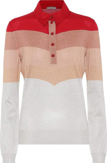 Bottega Veneta Striped metallic wool-blend sweater