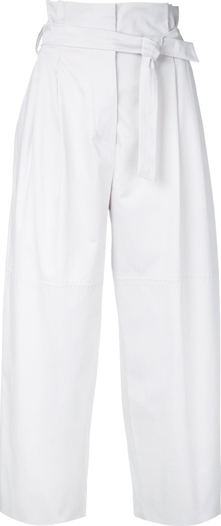 Alberta Ferretti high-rise belted cropped trousers